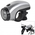 LSON MY-8 1W 2-Mode 8lm 5-LED Cool White Light Bike Light - Silver (3 x AAA Battery Not Included)
