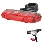 AKSLEN TL-62S 2lm 5-LED Red Light 3-Mode Bike Tail Light - Black + Red