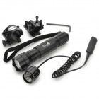 UltraFire WF-501B LED 150lm 1-Mode White Flashlight w/ Gun Mount - Black (1 x 18650)