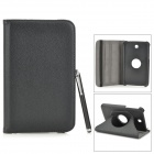 Protective PU Leather Case w/ Stylus Pen for Samsung Galaxy Tab 3 7.0 T210/T211/P3200/P3210 - Black