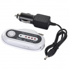 6318 3.5mm Jack Wireless FM Transmitter for Car - White (2 x AAA)