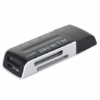 Multifunctional USB 2.0 SD / MS / MicroSD / TF / M2 Card Reader - White + Black (Max. 32GB)