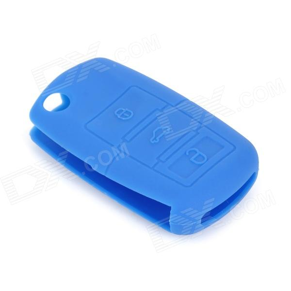 gel140106 Protective Silicone Car Key Case for VW - Dark Blue gel14031613 silicone car key case for audi a1 a3 q3 q7 r8 a6l tt light blue