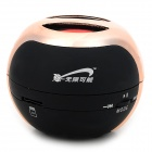 T07 3W Mini Portable Retractable Stereo Speaker w/ TF - Black + Rose Gold (16G Max.)