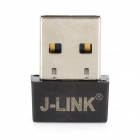 J-LINK 7601 Mini USB 2.0 150Mbps 802.11n Wireless Network Adapter Card - Black + Silver