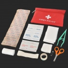 Convenient Outdoor First-aid Kit Bag - White + Red