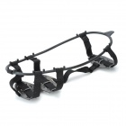 JT-400 Outdoor Hiking Snowfield Stainless Steel Crampon - Black (Size L / Pair)