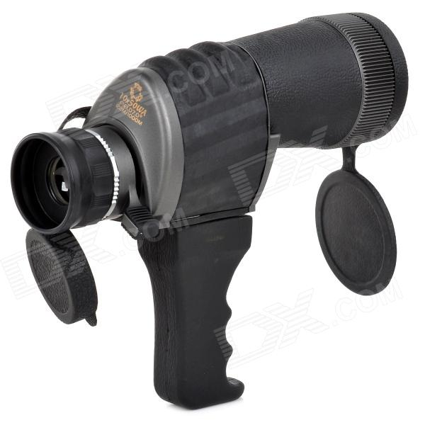 1050 10X50WA HD Handheld Monocular - BlackBinoculars And Telescopes<br>Form  ColorBlackBrandN/AModel1050Quantity1 DX.PCM.Model.AttributeModel.UnitMaterialRubberBest UseBackpacking,Camping,Mountaineering,TravelFeatureNight vision binocular,Bird watching binocular,Show watching telescope,Landscape watching telescopeMagnification10XObjective Diameter50mmWaterproofNoEye Relief12.5Packing List1 x Binoculares1 x Handle1 x Lens cleaning cloth1 x Pouch1 x English user manual<br>