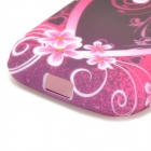 Love Heat & Flowers Style TPU Back Case for Samsung Galaxy Young S6310 / S6312 / S6313 - Purple