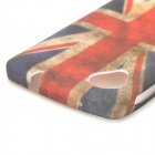 Retro UK National Flag Style Protective TPU Back Case for LG Nexus 5 - Blue + Red + White