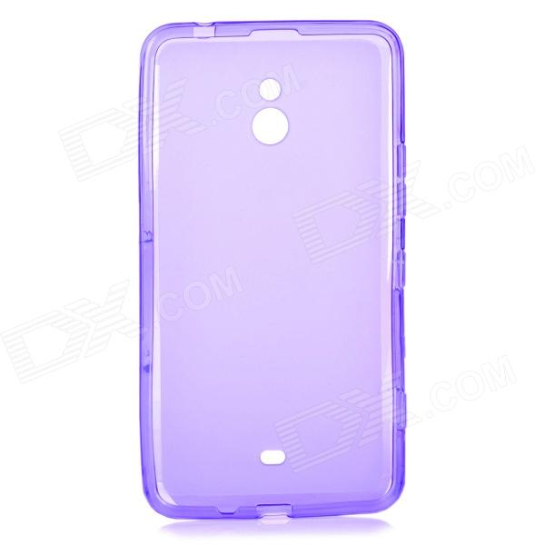 LX-1320 Stylish Protective TPU Back Case for Nokia Lumia 1320 - Translucent Purple
