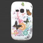 Butterfly Style Protective TPU Back Case for Samsung Galaxy Young S6310 / S6312 / S6313 - White