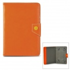 "Universal Protective PU Leather Case Cover Stand for 7"" Tablet PC - Brown"