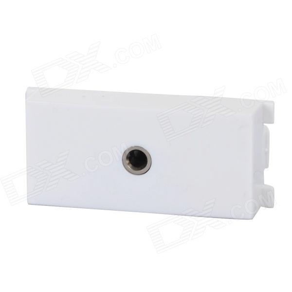 3.5mm Female Audio Panel Adapter - White + Green + Multi-Colored