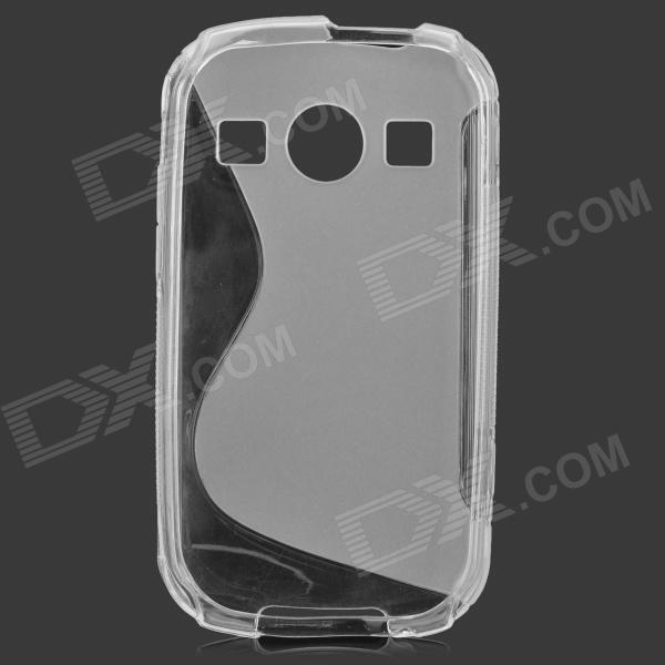 S Style Anti-Slip Protective TPU Back Case for Samsung Galaxy Xcover 2 S7710 - Translucent White мобильный телефон ginzzu mb505 черный