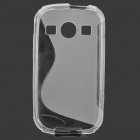 """S"" Style Anti-Slip Protective TPU Back Case for Samsung Galaxy Xcover 2 S7710 - Translucent White"