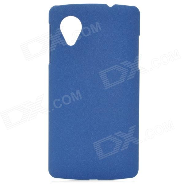 Protective Quicksand Texture PVC Back Case for Google LG Nexus 5 - Blue protective silicone back case for lg nexus 5 red