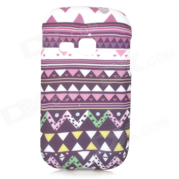 Stylish Protective TPU Back Case for Samsung Galaxy Young S6310 / S6312 / S6313 - White + Purple