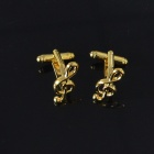 DEDO MG-120 Gold High Notes Shirt Cufflinks - Golden (2 PCS)