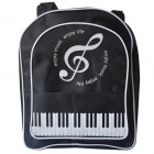DEDO MG-184 Classic Students Bag with Piano Keyboard - Black + White