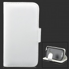 Protective PU Leather Case Cover for Samsung Galaxy S3 Mini i8190 - White