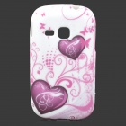 Love Heart Style Protective TPU Back Case for Samsung Galaxy Young S6310 / S6312 / S6313 - Purple
