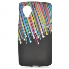 Meteor Pattern Protective TPU Back Case for LG Nexus 5 - Black + Multicolor