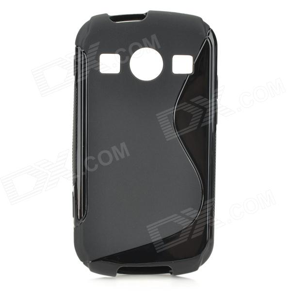 S Style Anti-Slip Protective TPU Back Case for Samsung Galaxy Xcover 2 S7710 - Black
