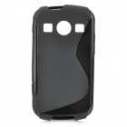"""S"" Style Anti-Slip Protective TPU Back Case for Samsung Galaxy Xcover 2 S7710 - Black"
