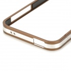 Stylish Protective Aluminum Alloy Bumper Case for IPHONE 5 / 5S - Coffee + Silver