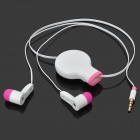 Retractable 3.5mm In-Ear Stereo Earphone / Microphone (110cm)