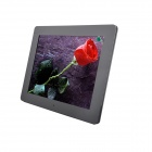 12 inch LED New Ultra-thin Digital Photo Frame with SD, MMC, USB, Earphone - Black (16MB)