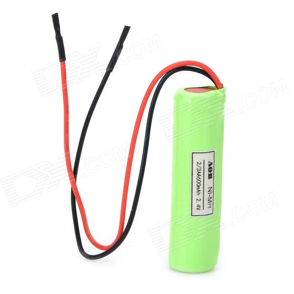 AOB Ni-MH 2 x 2/3AA 600mAh 2.4V Battery - Grass Green electric drill battery 18v 2500mah ni mh cd for bosch bat025 bat026 bat160 bat180 bat181 bat189 2 610 909 020 2 5ah battery