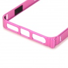 Ultrathin Protective Aluminum Alloy Bumper Case for IPHONE 5 / 5S - Deep Pink