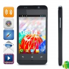 "WOOL H80W MTK6572 Dual-core Android 4.2.2 WCDMA Bar Phone w/ 4.0"" Screen, Wi-Fi, FM and GPS - Black"