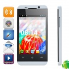 "WOOL H80W MTK6572 Dual-core Android 4.2.2 WCDMA Bar Phone w/ 4.0"", Wi-Fi, FM and GPS - White + Black"