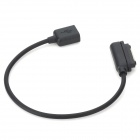 USB Data Sync / Charging Extension Cable for Sony Xperia Z Ultra XL39h - Black (20cm)