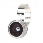 Universal 3-in-1 0.67X Wide + Macro Lens + 180 Degrees Fish Eye Lens For Cellphone - Silver