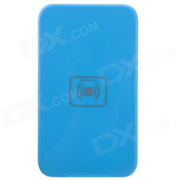 X5 Qi Standard Mobile Wireless Power Charger - Blue (EU Plug / 100~240V) universal mini 1a qi wireless charger w eu plug adapter black 100 240v