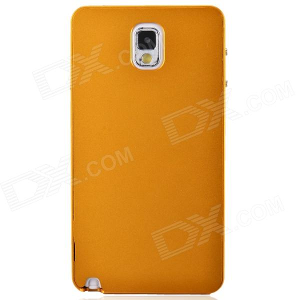 Fashionable Protective Aluminum Alloy Back Case for Samsung Galaxy Note 3 - Golden Yellow
