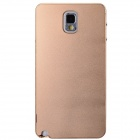 Fashionable Protective Aluminum Alloy Back Case for Samsung Galaxy Note 3 - Champagne