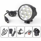 UltraFire U-33 7-LED 3-Mode 3500LM Cool White Bike Light / Headlamp - Black (4 x 18650)