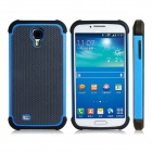 2-in-1 Ball Feel Protective Plastic + TPU Back Case for Samsung Galaxy S4 i9500 - Blue + Black