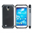 2-in-1 Ball Feel Protective Plastic + TPU Back Case for Samsung Galaxy S4 i9500 - White + Black
