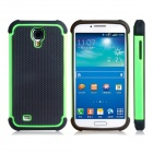 2-in-1 Ball Feel Protective Plastic + TPU Back Case for Samsung Galaxy S4 i9500 - Black + Green