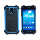 2-in-1 Sports Ball Skin Protective Plastic + TPU Case for Samsung Galaxy S4 Mini - Blue + Black