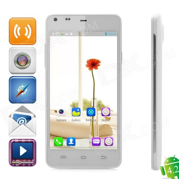 THL T5S Android 4.2 Quad-Core WCDMA Bar Phone w/ 4.7 QHD, Wi-Fi and GPS - White thl w100s android 4 2 quad core wcdma bar phone w 4 5 capacitive screen wi fi and gps black