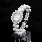 EANA WA02014T New All-White Exorcising Evil Spirits Tridacna High-End Quartz Bracelet Watch - White