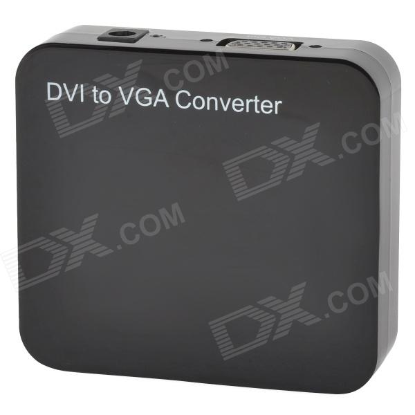 DVI to VGA Convertor (24+1) DVI-D to VGA Digital DVI-I Convertor - Black (100~240V)