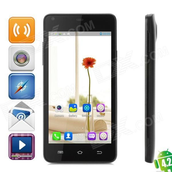 THL T5S Android 4.2 Quad-Core WCDMA Bar Phone w/ 4.7 QHD, Wi-Fi and GPS - Black finesource g7 android 4 4 quad core wcdma bar phone w 5 5 4gb rom wi fi gps ota black
